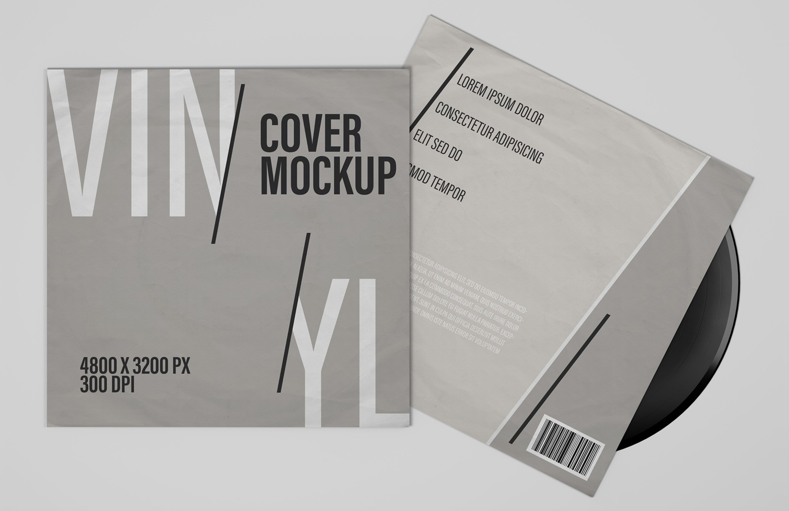 Vinyl Record Cover Mockups Preview 1