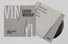 Vinyl Record Cover Mockups