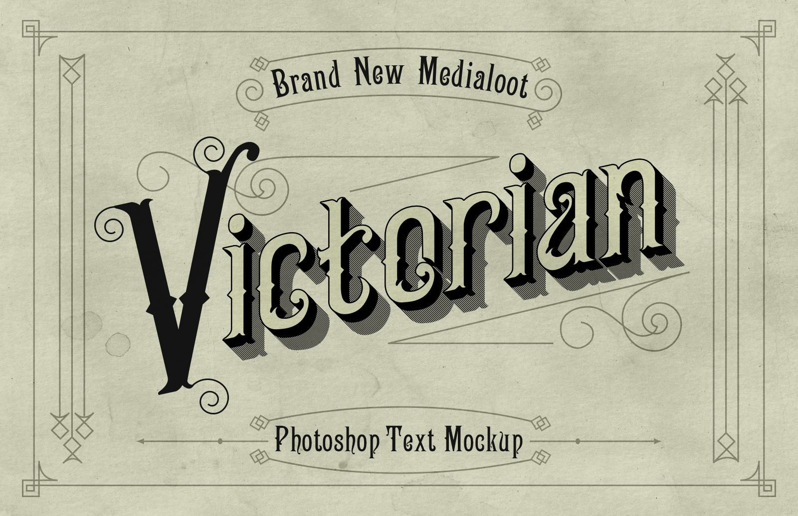 Victorian Text Mockup
