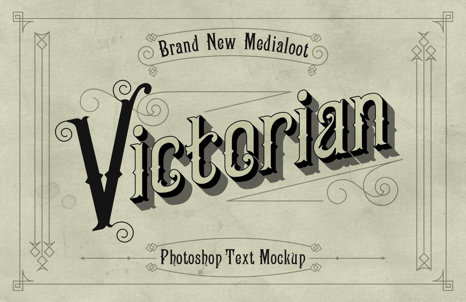 Victorian Text Mockup Preview 1