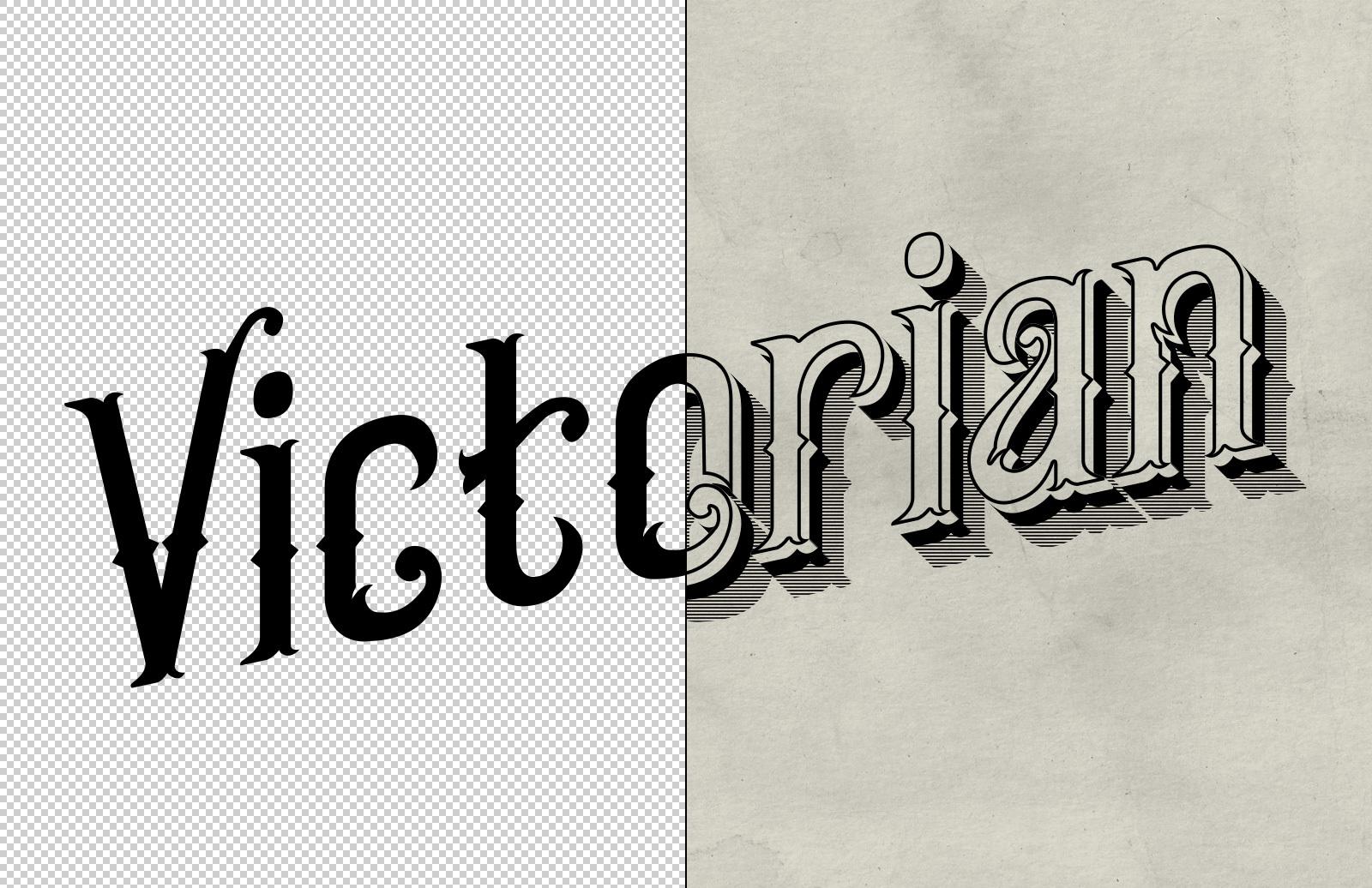 Victorian Text Mockup 2