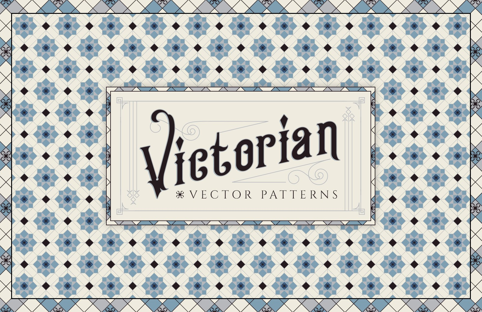 Victorian Vector Patterns Preview 1
