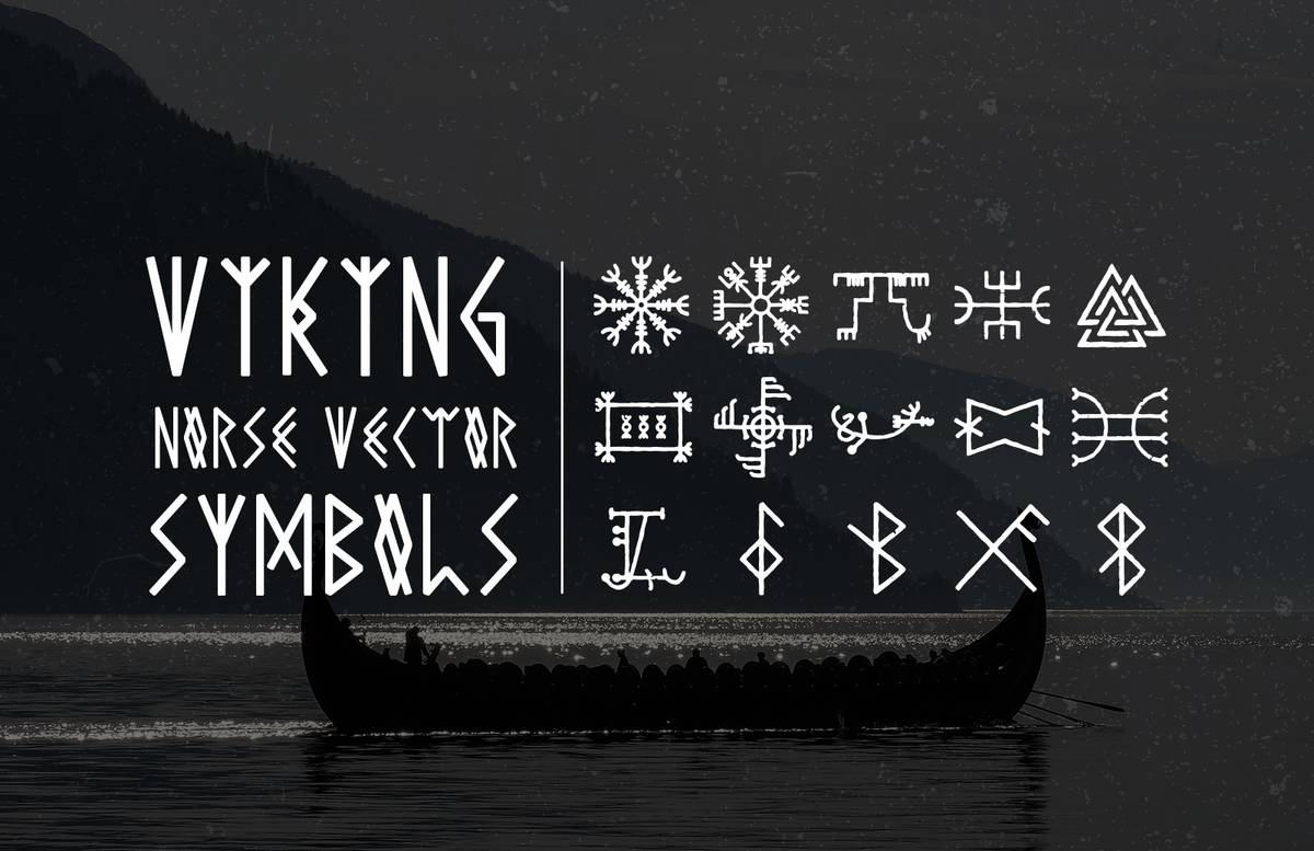 Viking Norse Vector Symbols Preview 1