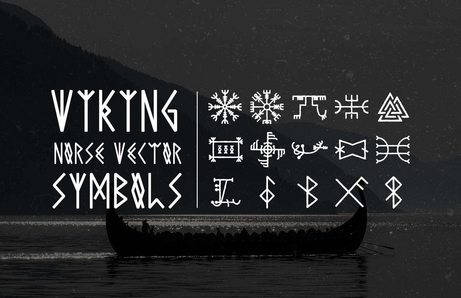 Viking Norse Vector Symbols Preview 1
