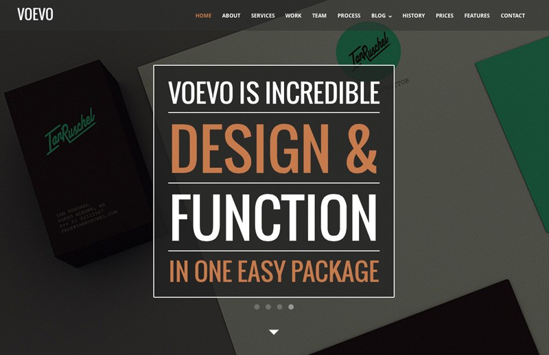Voevo – One Page Responsive HTML Template