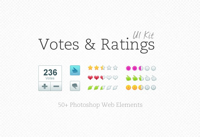Large Votes  Ratings  Ui  Kit  Preview12