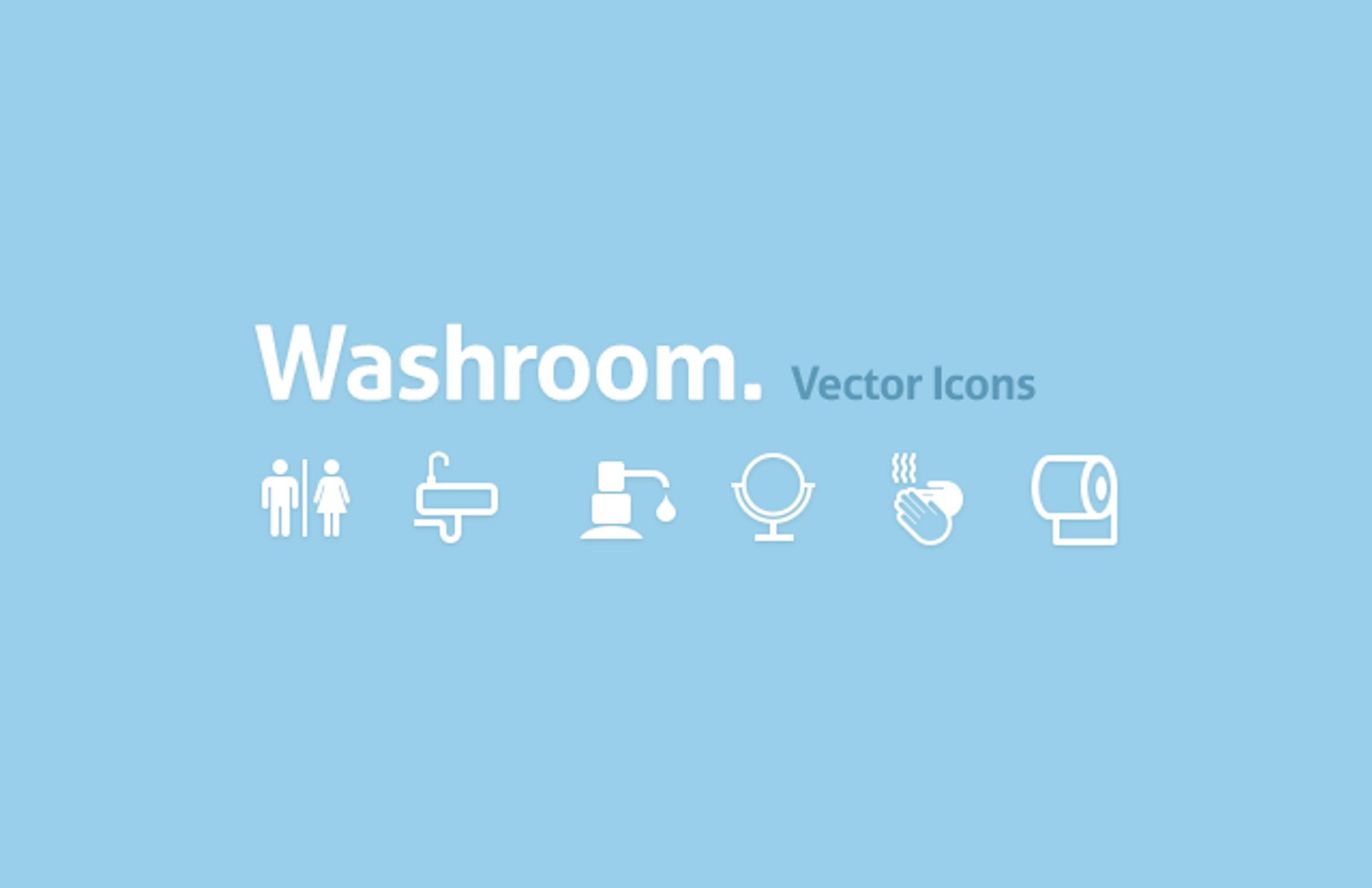 Washroom  Vector  Icons  Preview1