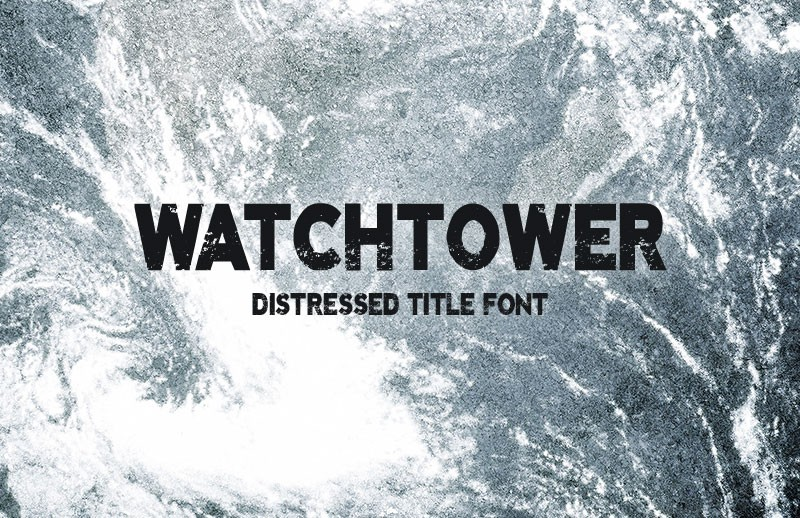Watchtower - Distressed Title Font
