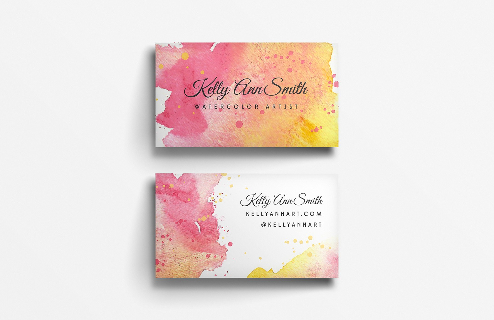 Watercolor  Artist  Business  Card  Template  Preview 2