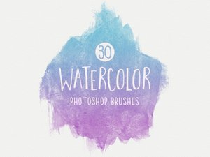 Watercolor Brushes for Photoshop 1