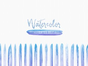 Watercolor Brushes for Illustrator 1