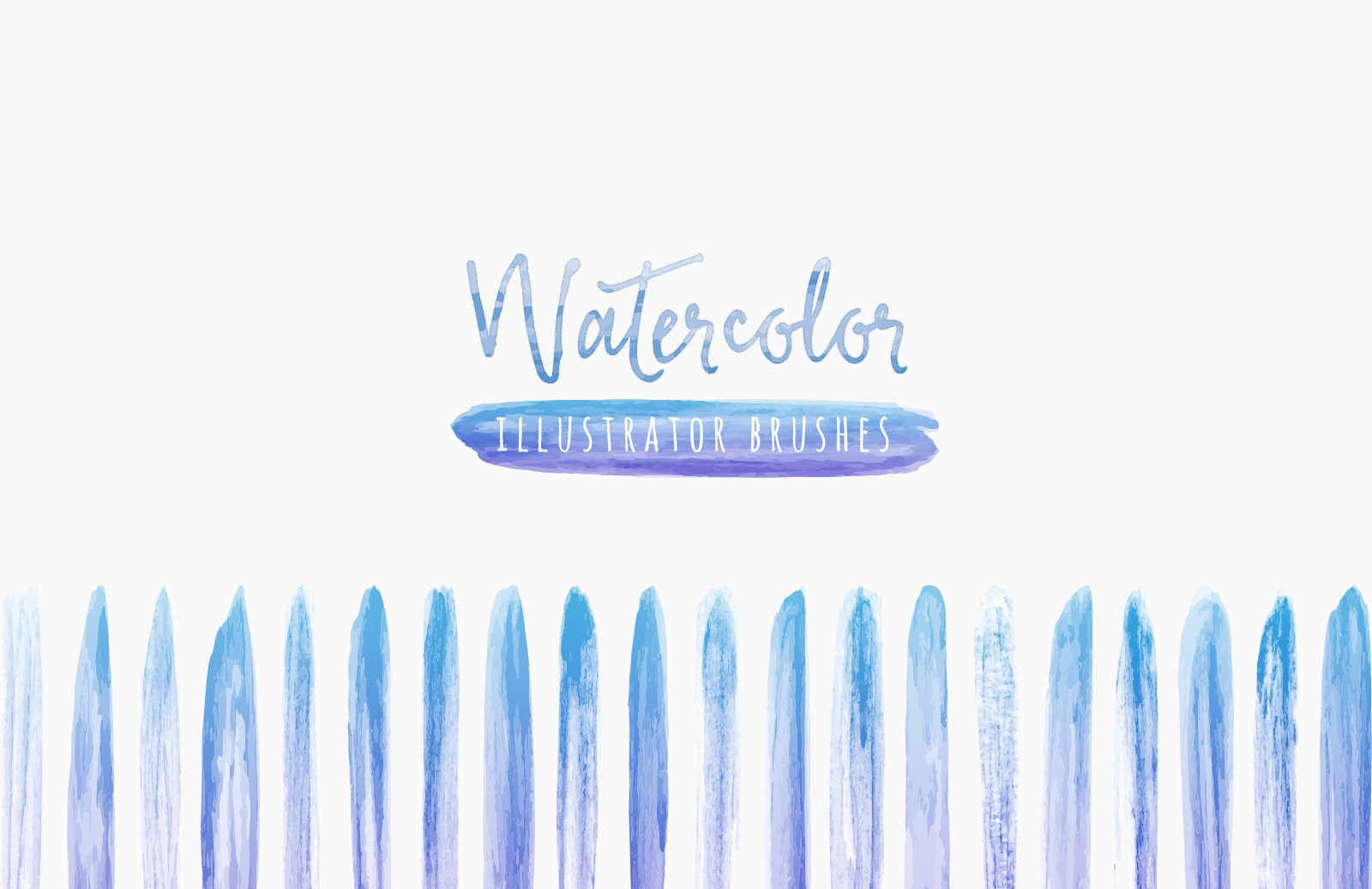 Watercolor Brushes For Illustrator Preview 1
