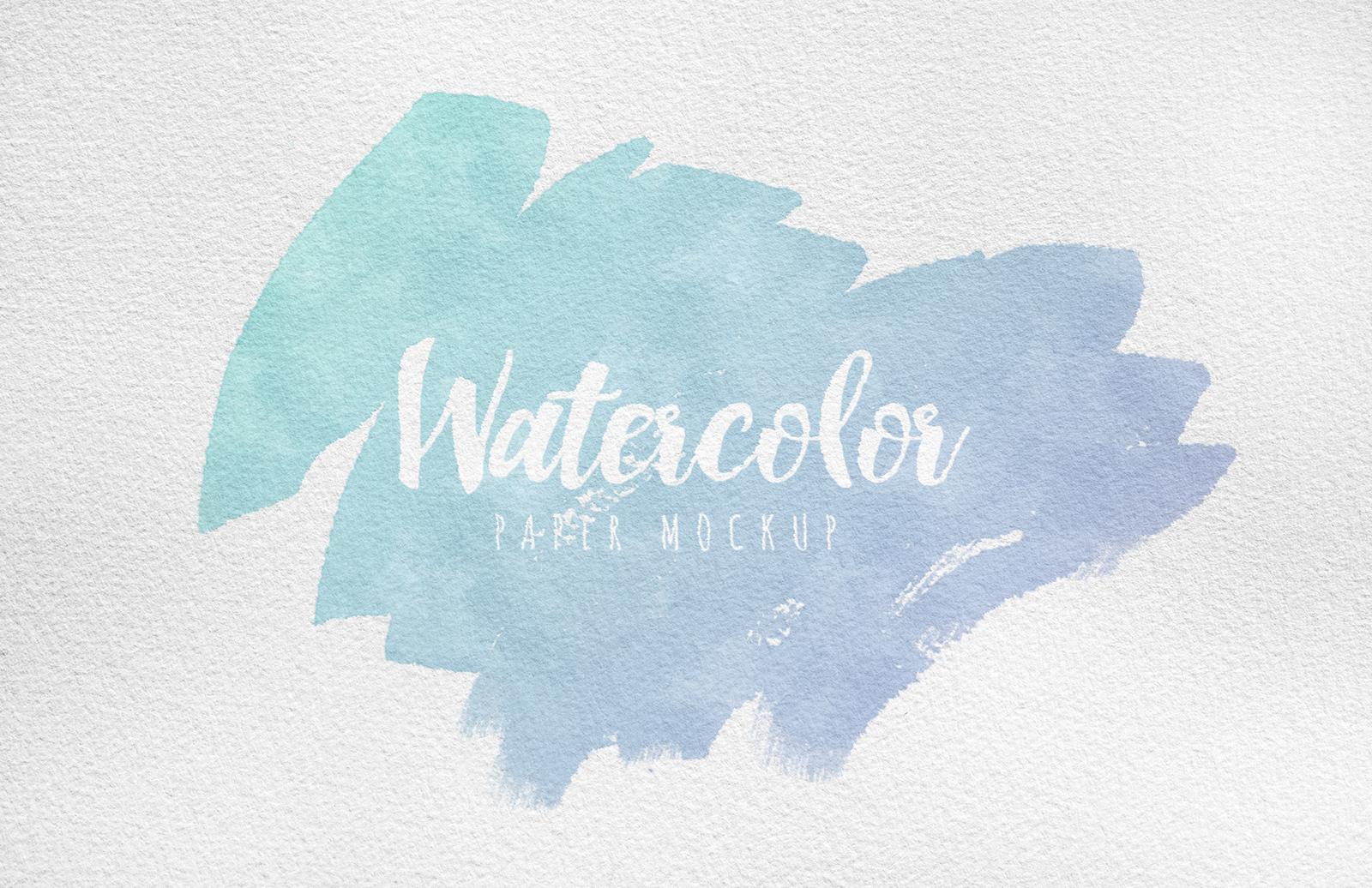 Watercolor Paper Mockup Preview 1