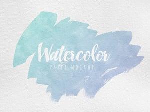 Watercolor Paper Mockup 1