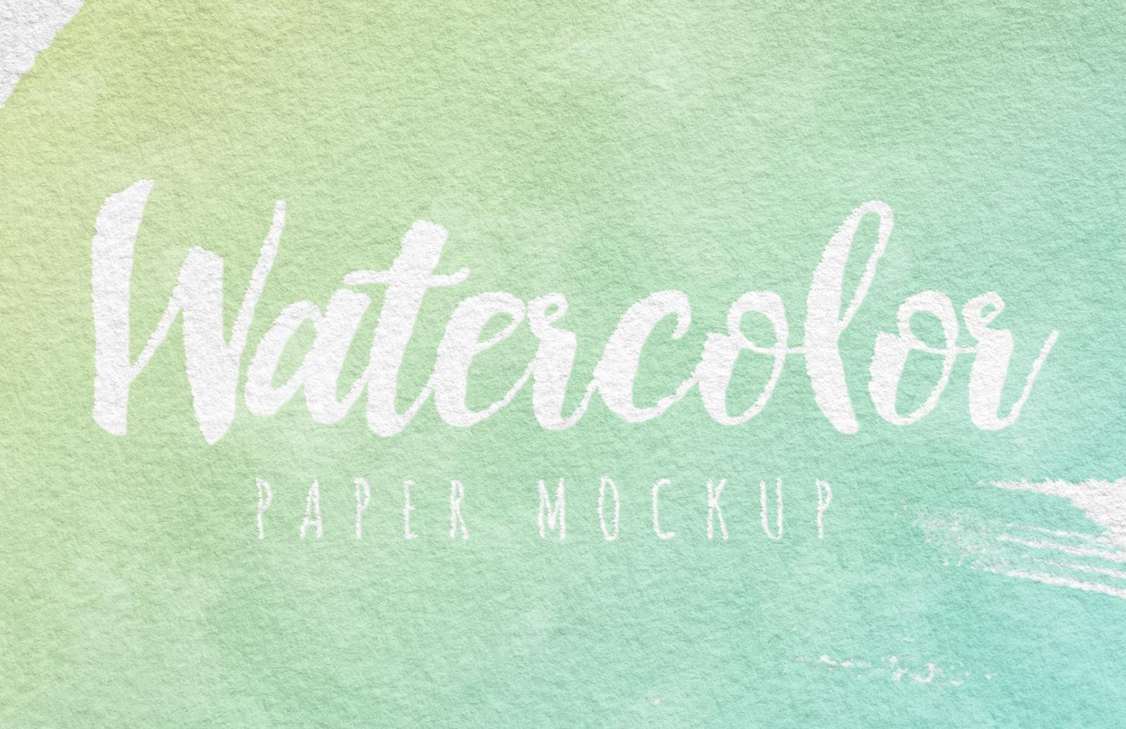Watercolor Paper Mockup Preview 2