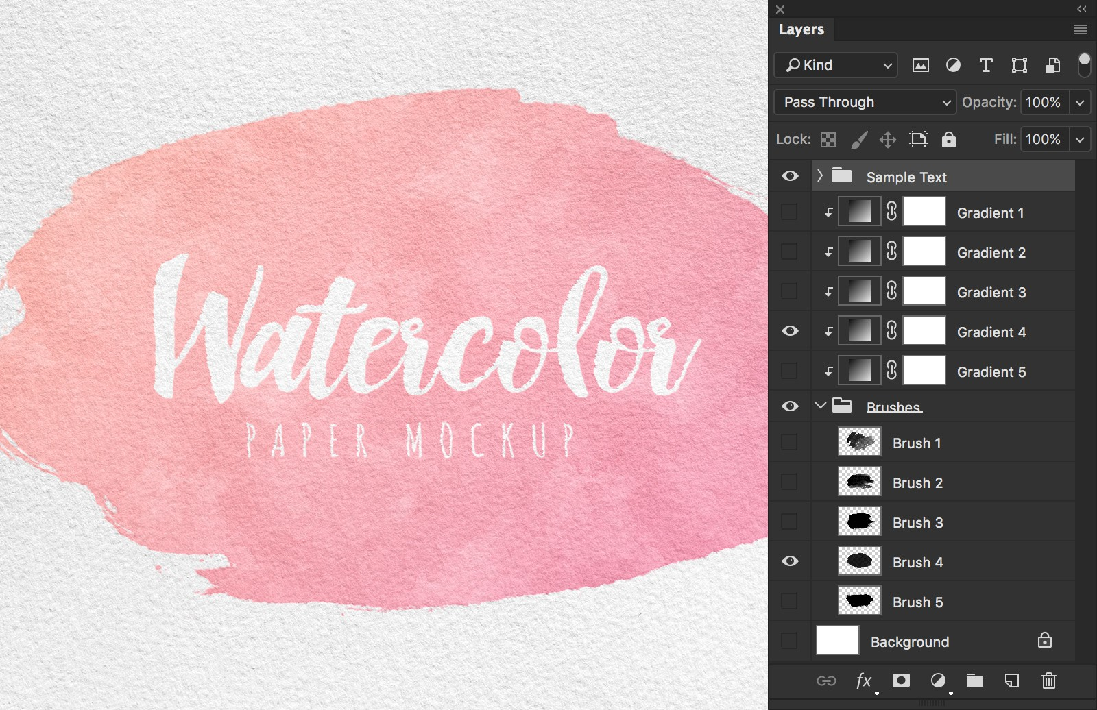 Watercolor Paper Mockup Preview 4