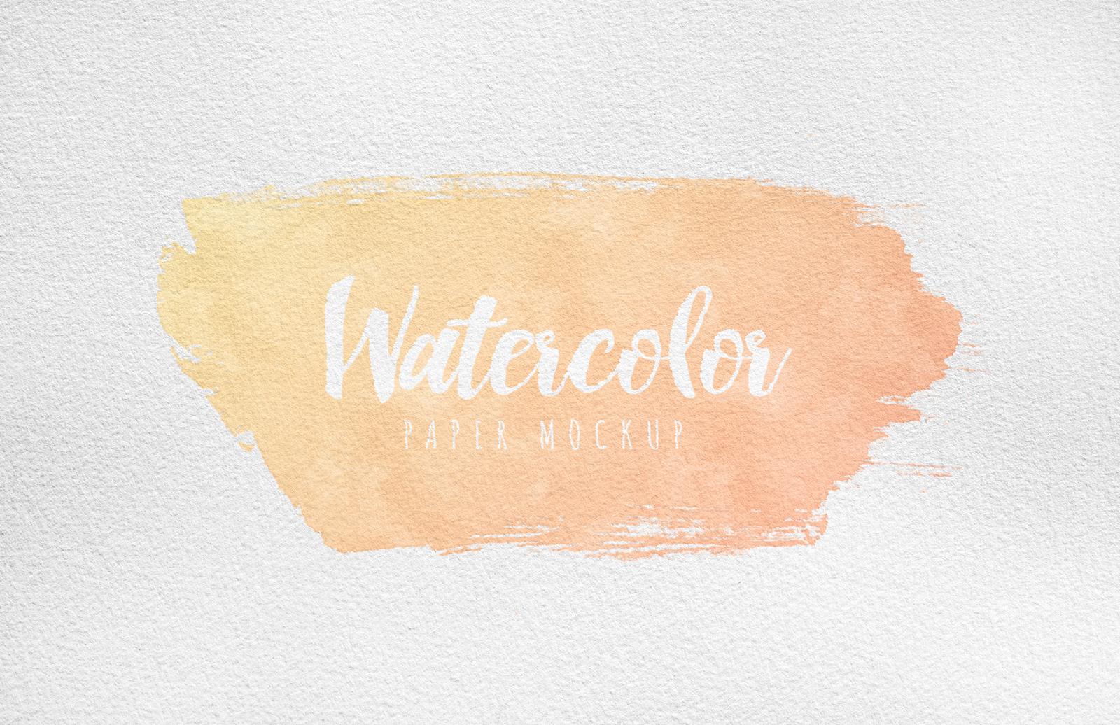 Watercolor Paper Mockup Preview 5