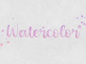 Watercolor Text Effects 2