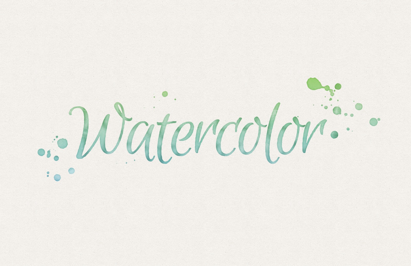 Watercolor Text Effects 1