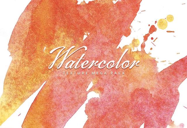 25 Handmade Watercolor Textures