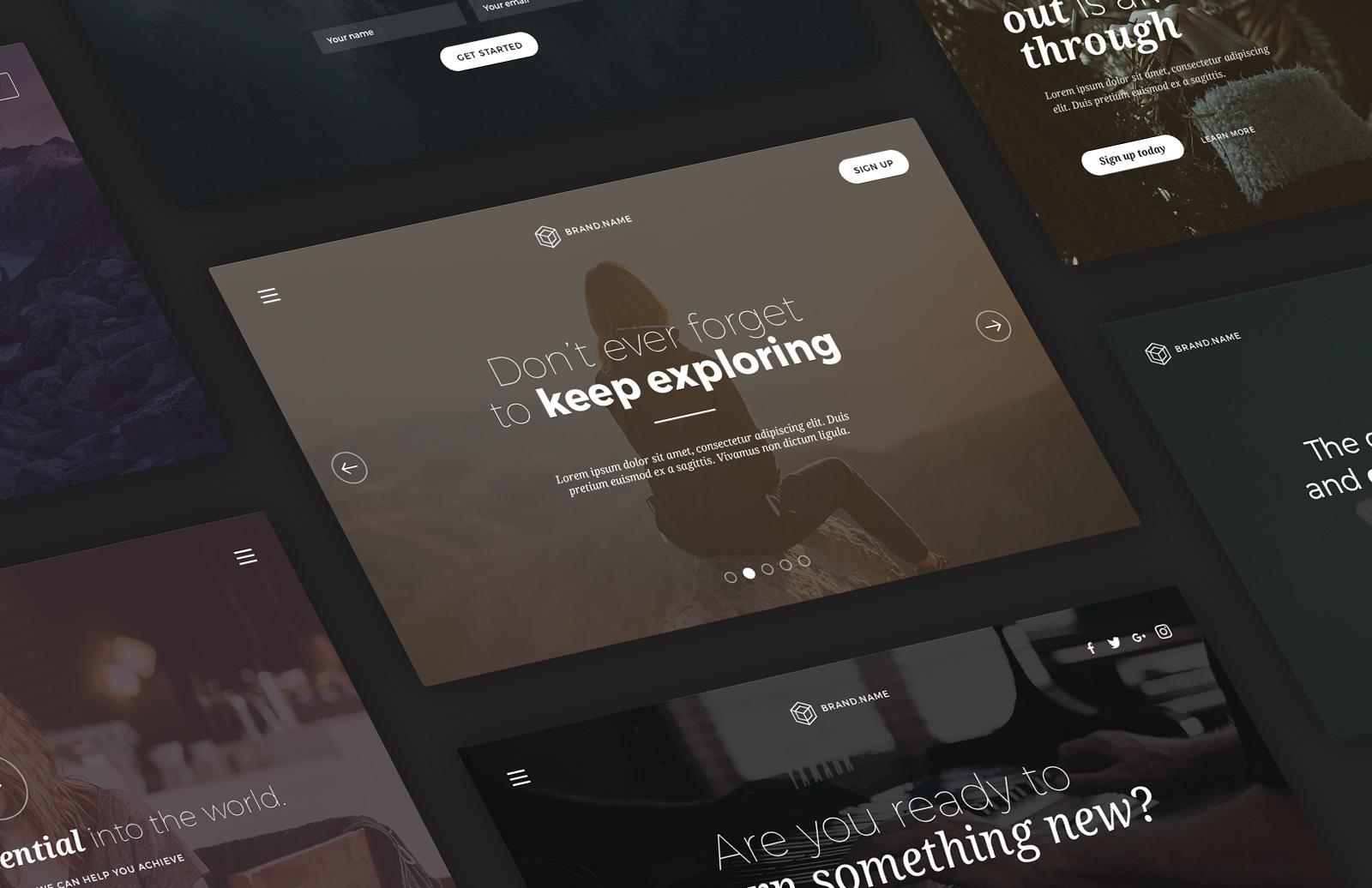 Web Header Cover Templates (PSD) 1