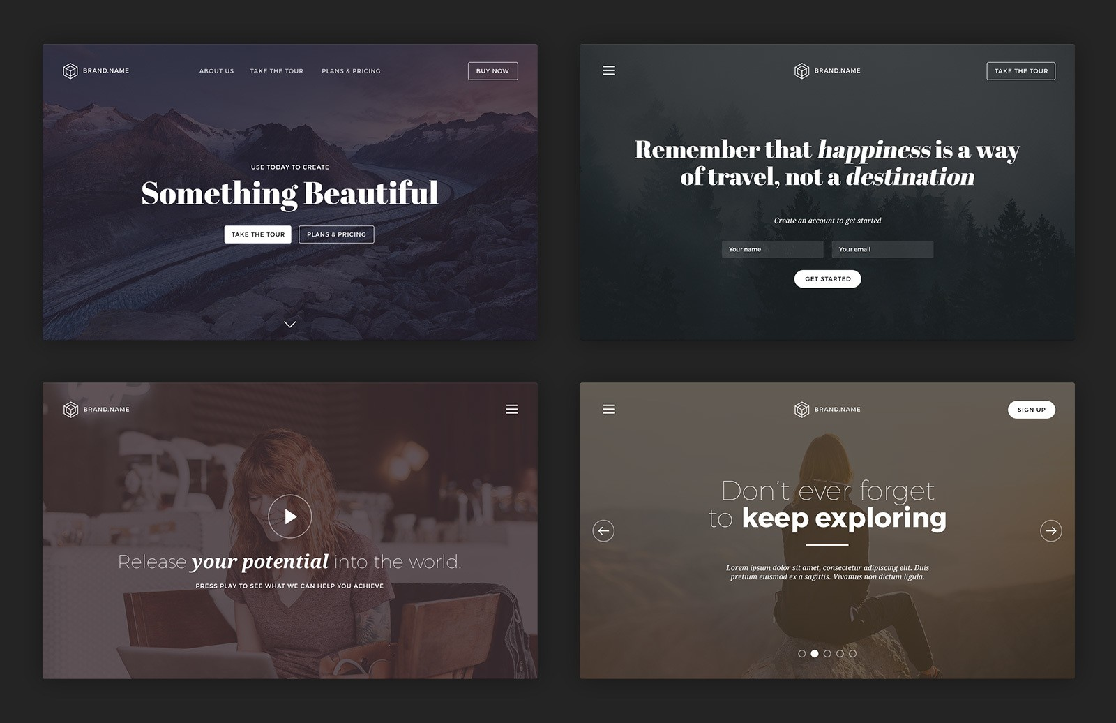 Large Web Header Cover Templates Preview 2