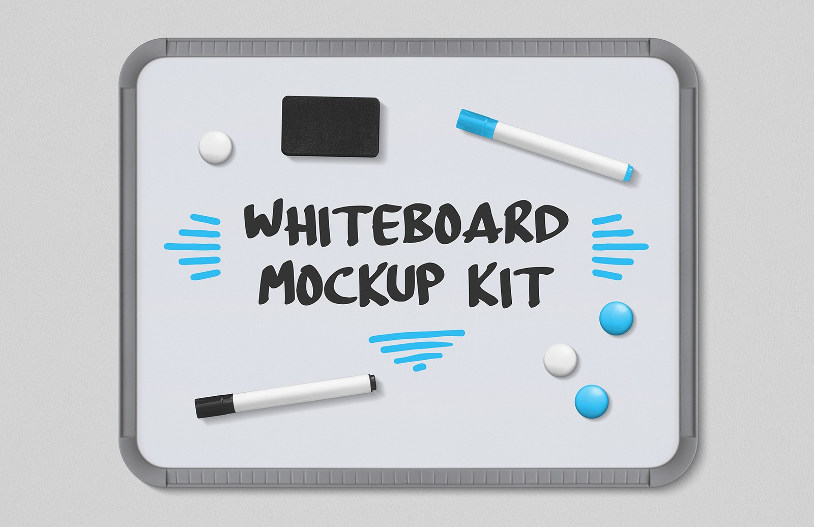 Whiteboard Mockup Kit Preview 1