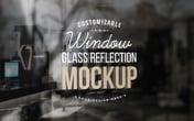 Window Glass Reflection Mockup