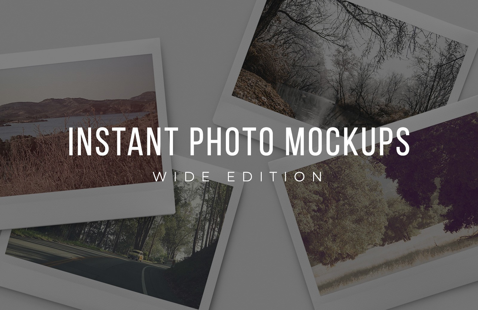 Wide Instant Photo Mockups Preview 1