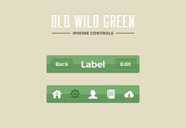 Old Wild Green iPhone Controls