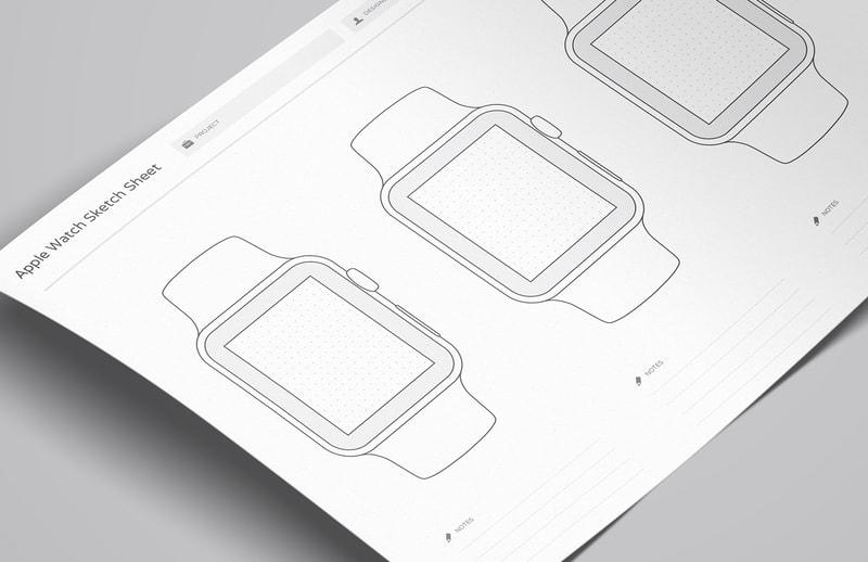 wireframe sketch sheets apple watch medialoot. Black Bedroom Furniture Sets. Home Design Ideas