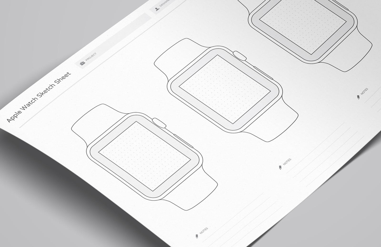 Wireframe Sketch Sheets (Apple Watch)