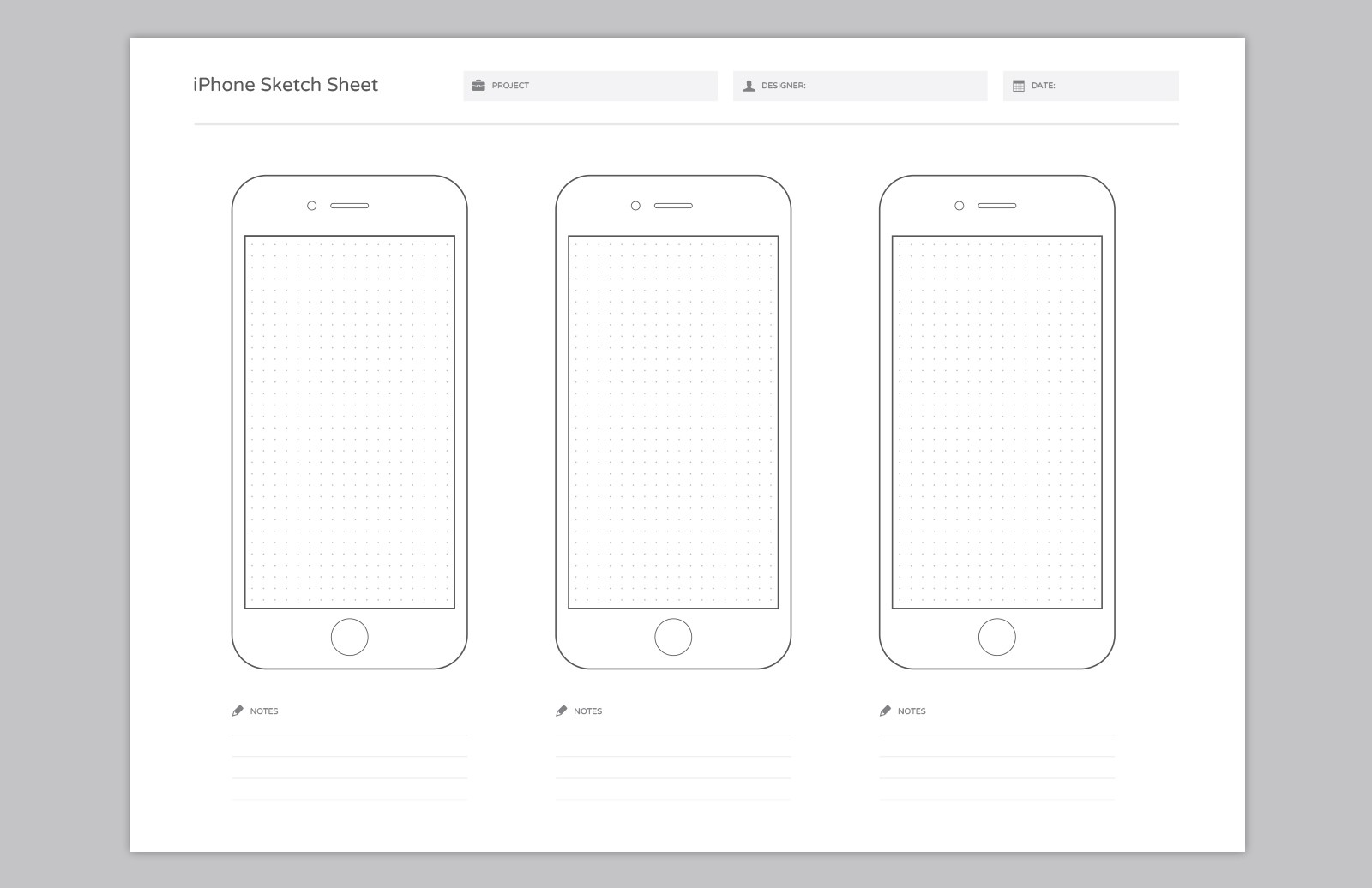 Large Wireframe  Sketch  Sheets  Preview 3A