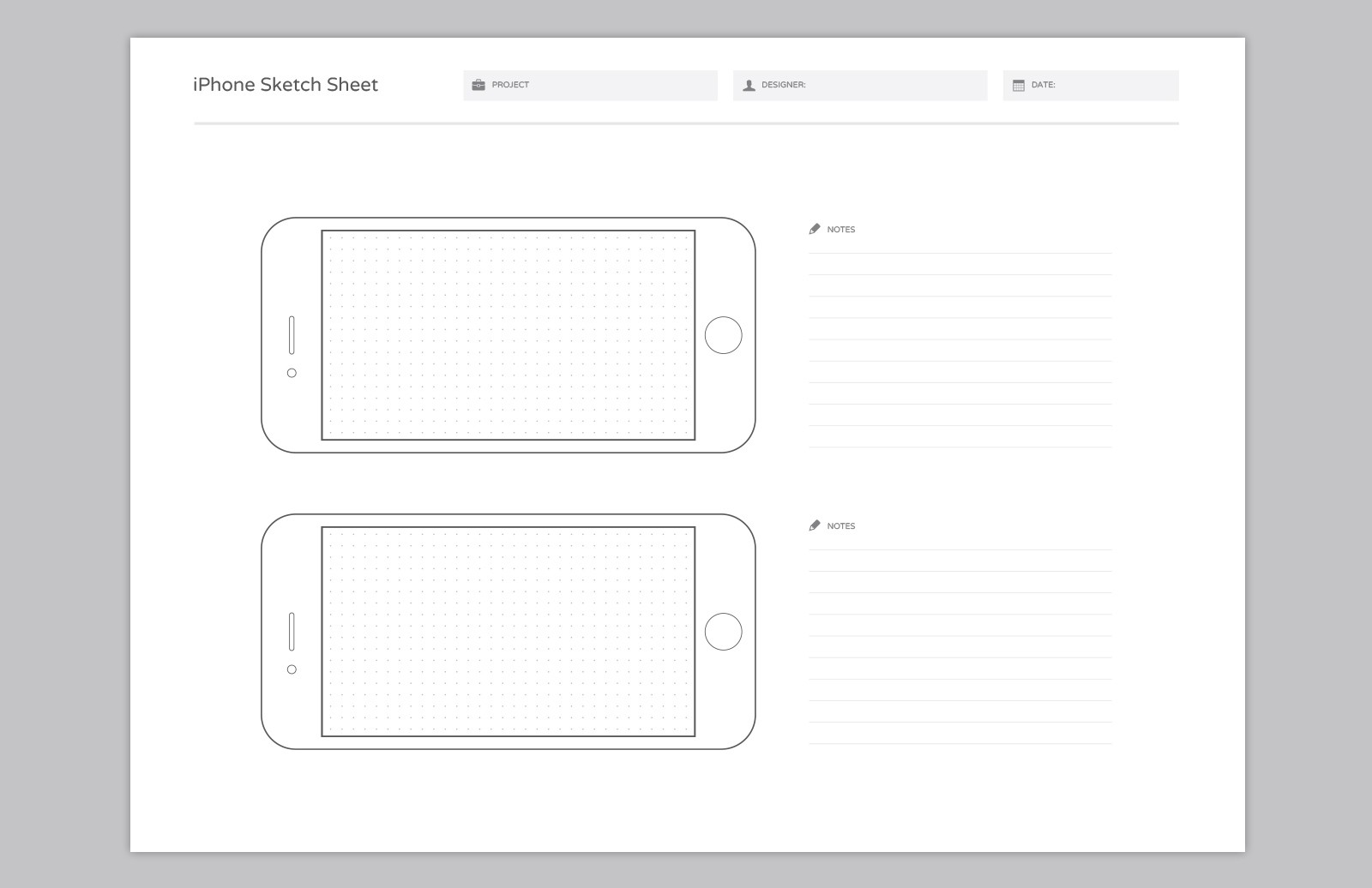Large Wireframe  Sketch  Sheets  Preview 4A