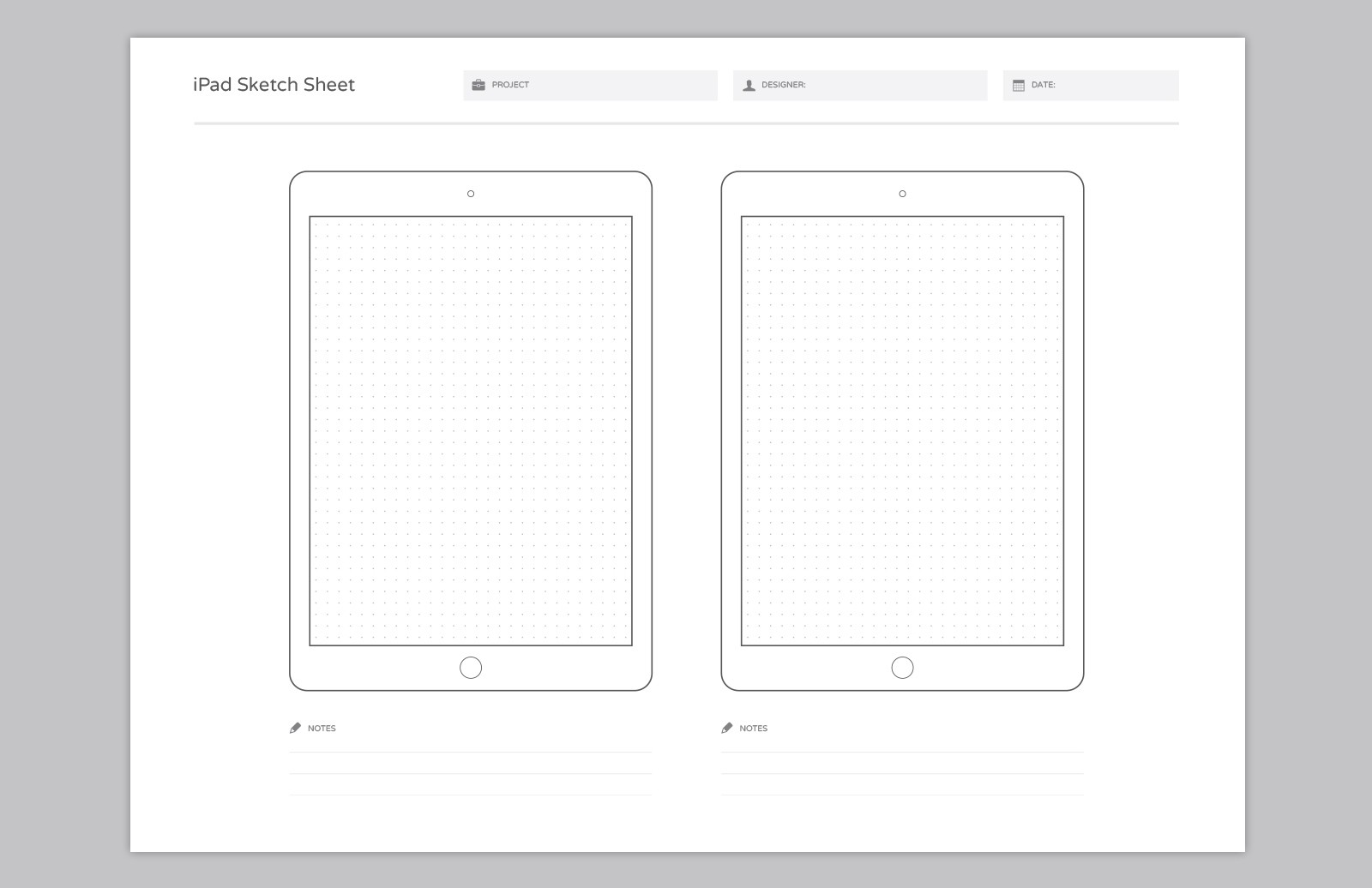 Large Wireframe  Sketch  Sheets  Preview 5A