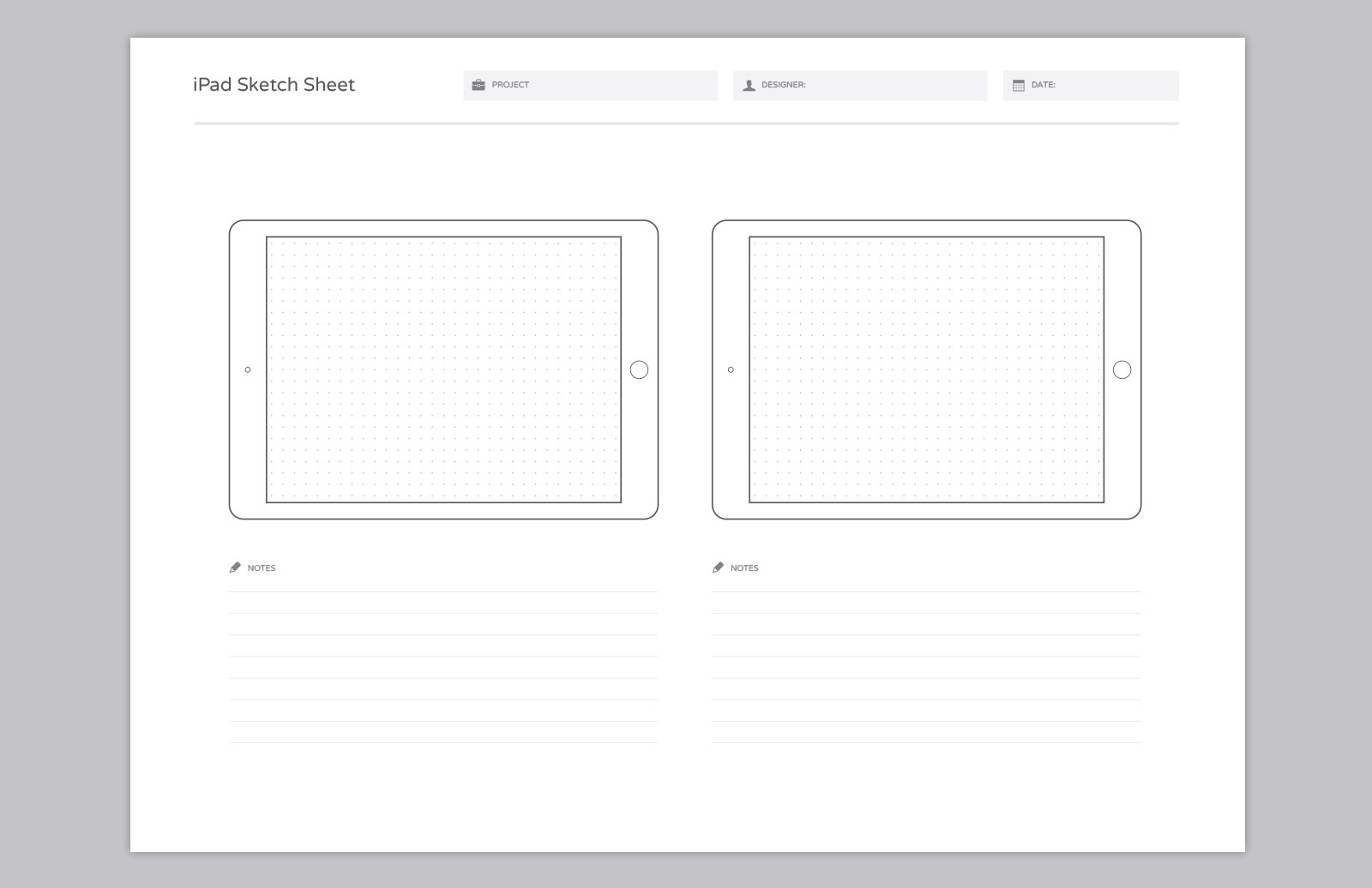 Large Wireframe  Sketch  Sheets  Preview 6A