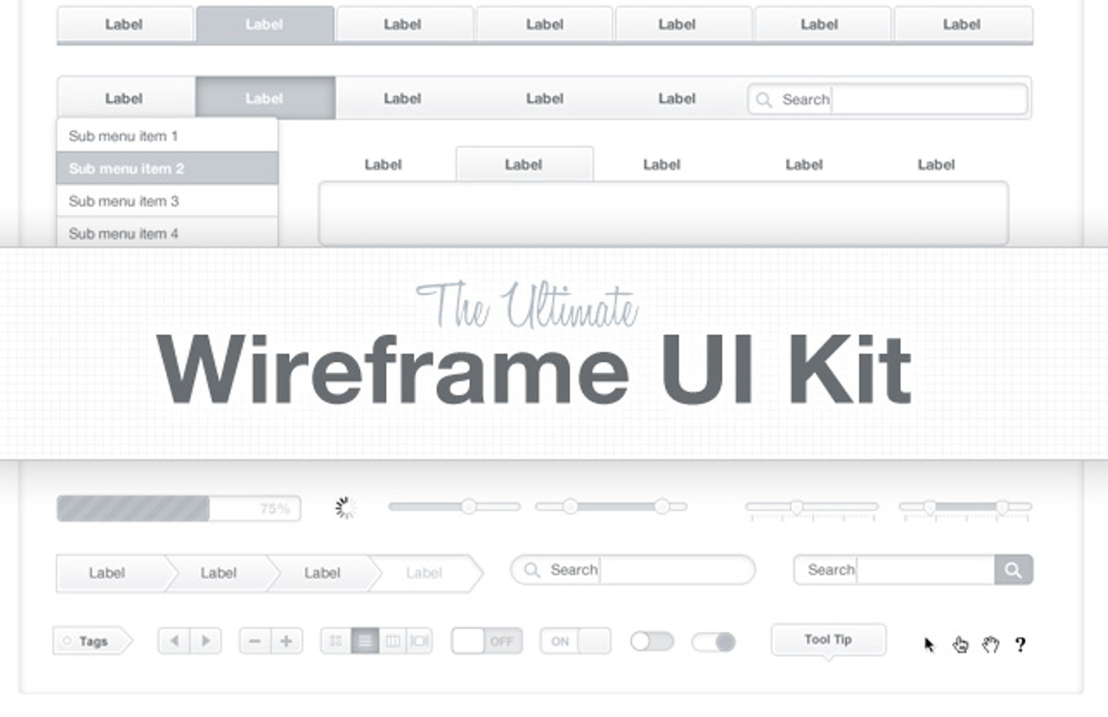 the ultimate wireframe ui kit medialoot