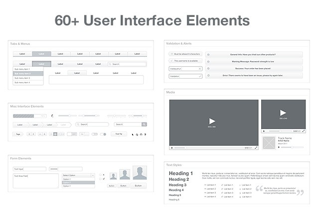Wireframe  Ui  Kit  Preview2