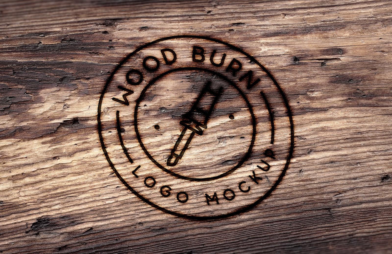 Wood Burn Logo Mockup Preview 1