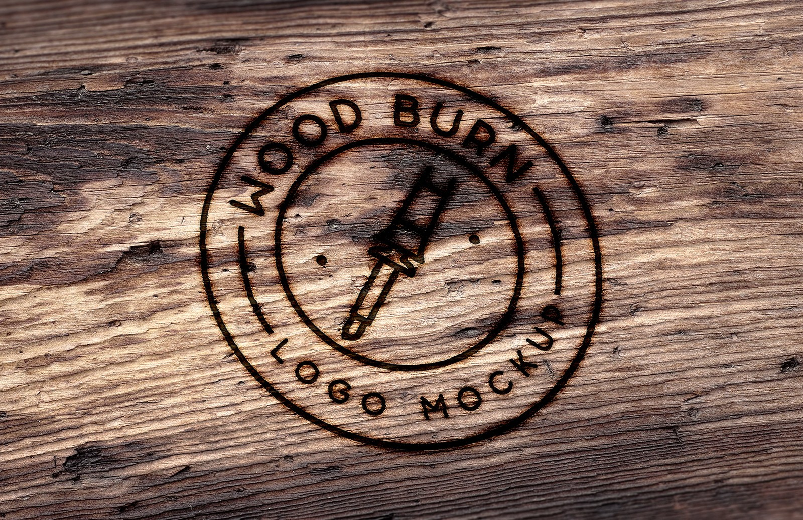 Wood Burn Logo Mockup Preview 1