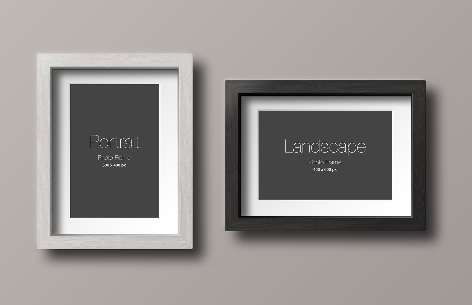 Large Wood  Photo  Frame  Mockup  Preview 1