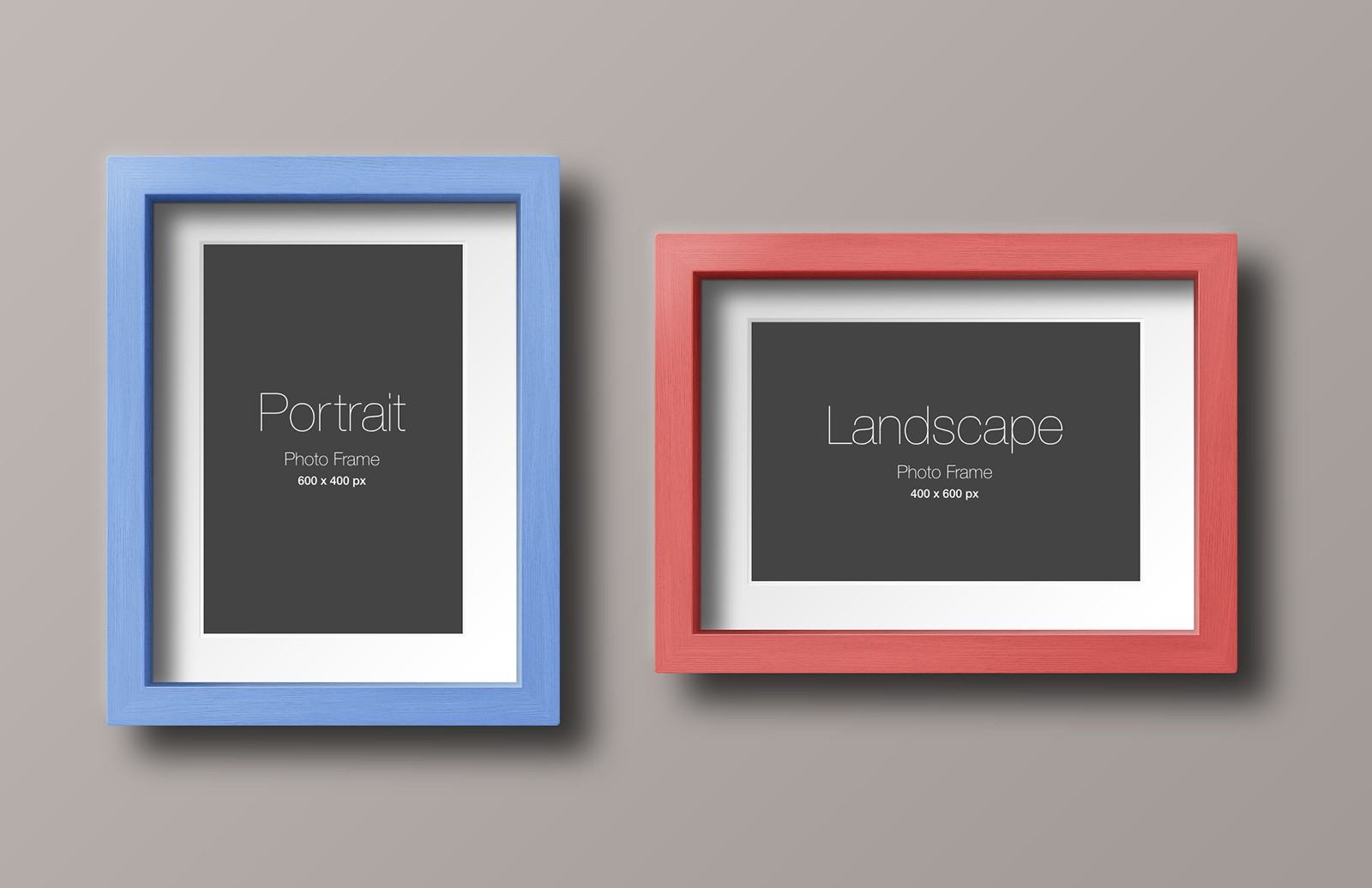 Wood Photo Frame Mockup 2