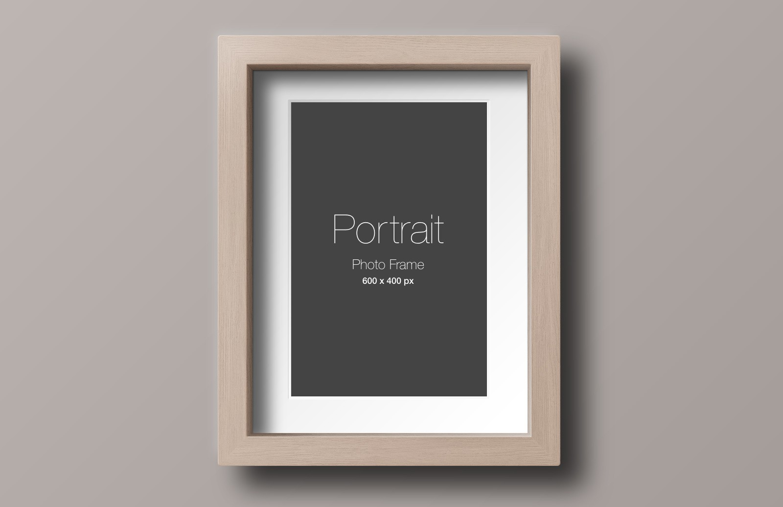 Large Wood  Photo  Frame  Mockup  Preview 3