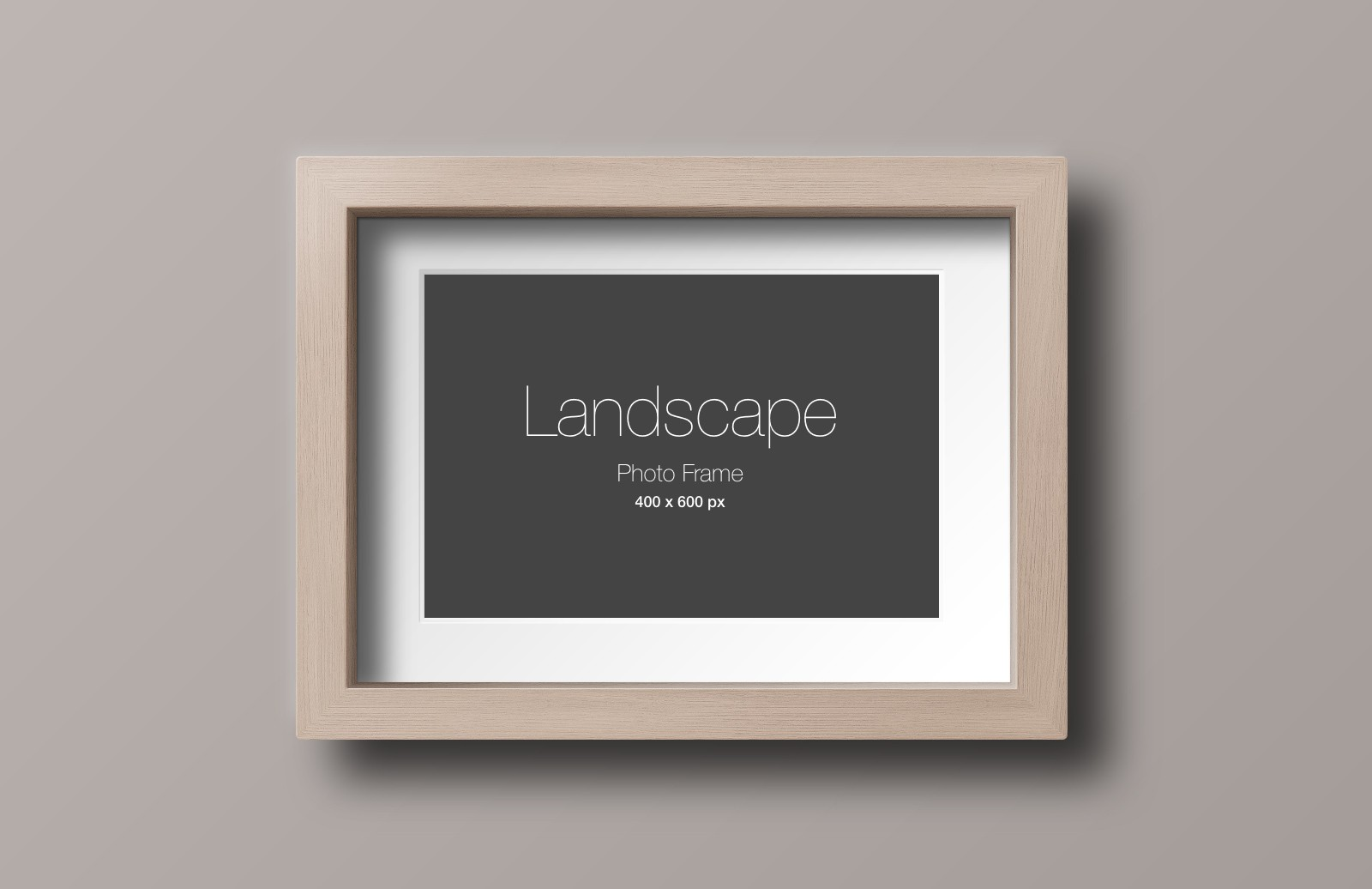 Large Wood  Photo  Frame  Mockup  Preview 4