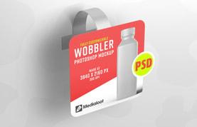 Promotional Shelf Wobbler Mockup