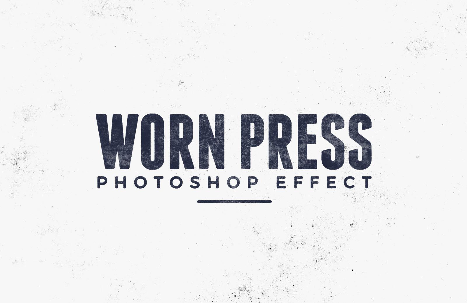 Worn Press Text Effect