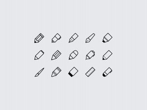Writing Implements Icon Set 2