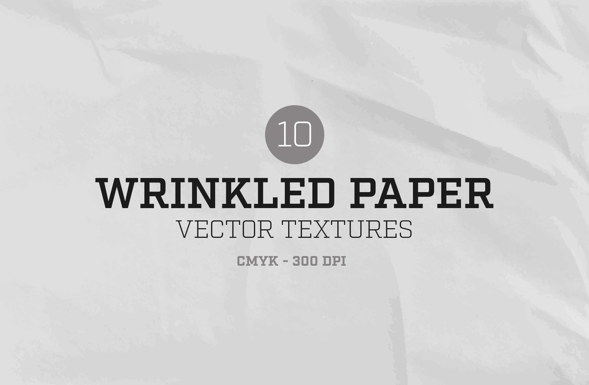 Wrinkled Paper Vector Textures
