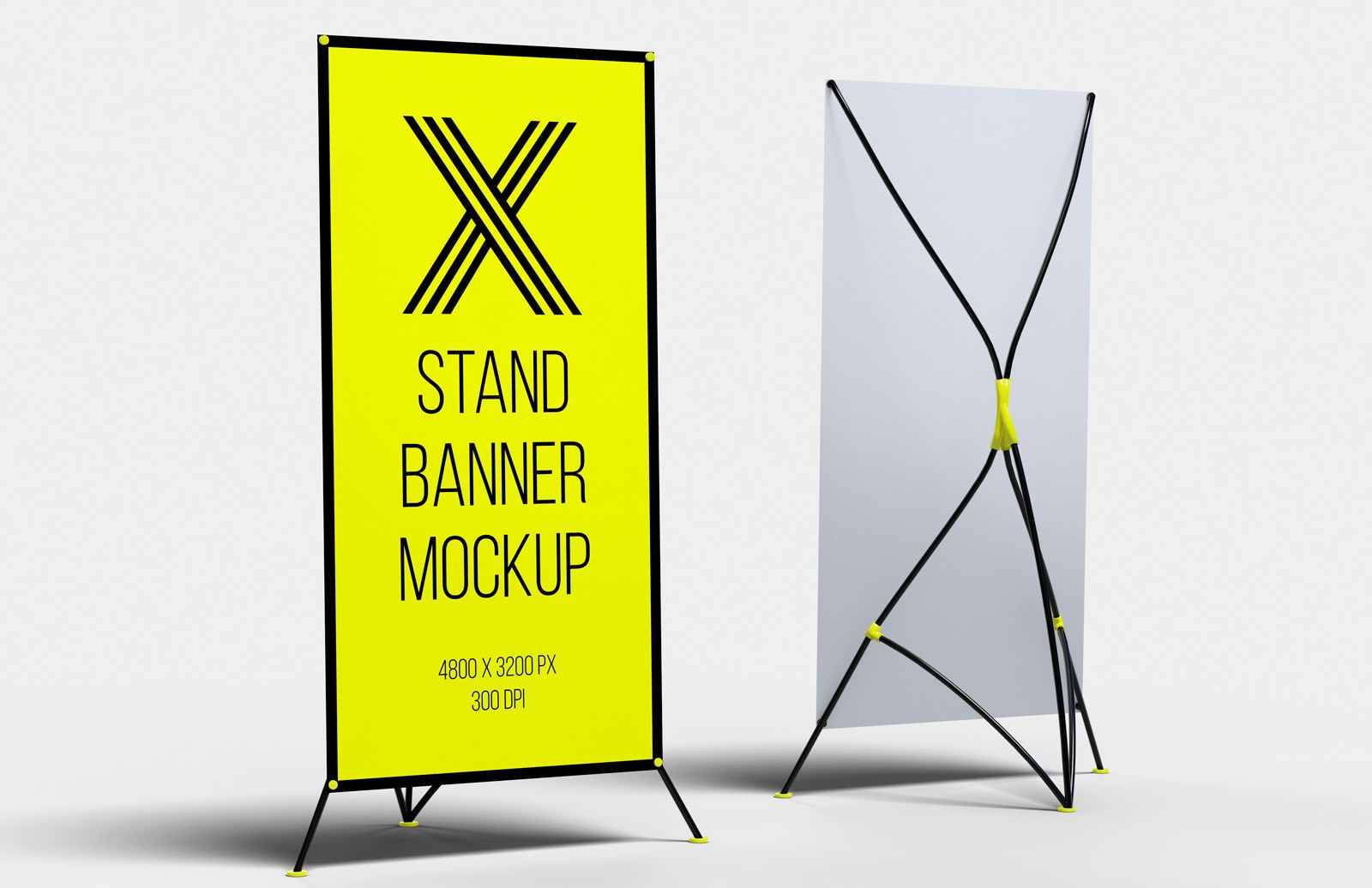 X Stand Banner Mockup Preview 1
