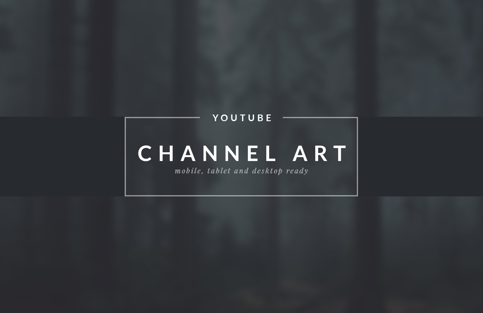 YouTube Channel Art Templates 1